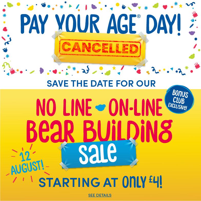 No Line On-Line Bear Building Sale