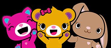 Three friends - Bearemy, Pawlette and Catlynn