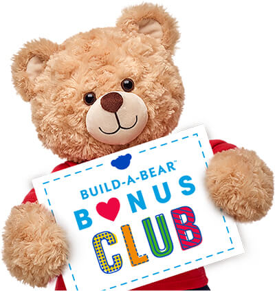 Bear Holding Sign - Build-A-Bear Bonus Club