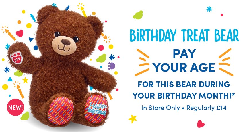 Count Your Candles Birthday Bear Offer | Pay Your Age at Build-A-Bear®
