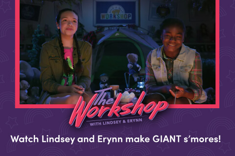 Watch Lindsay and Erynn make giant s'mores