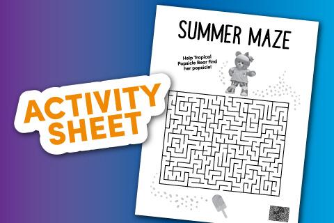 Activity Sheet - Summer Maze Image