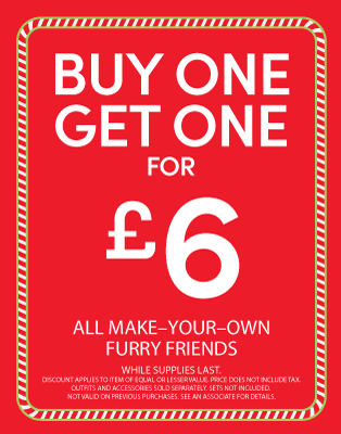 Build-A-Bear Workshop - Buy One, Get One £6
