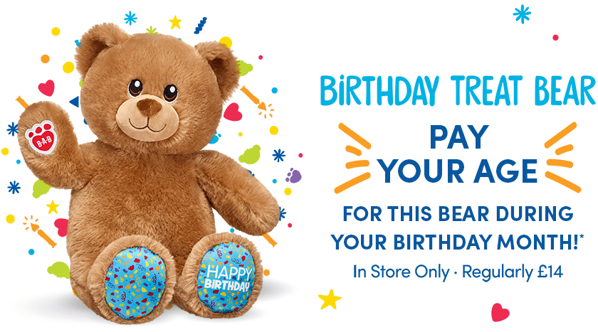 Get A Birthday Bear At The Price Of Your Age