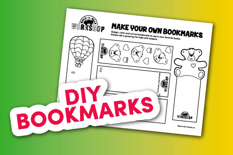DIY bookmark printable sheet