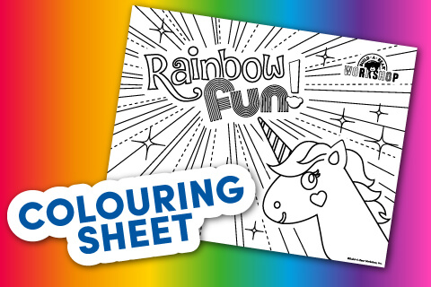 Coloring Sheet Thumbnail featuring a unicorn