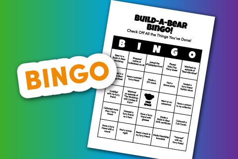 Build-A-Bear Logo with Bingo sheet