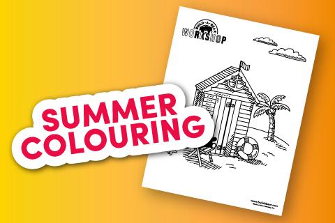 Summer Colouring Sheet