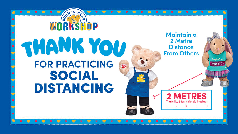 Build-A-Bear Experience - Practice Social Distancing Sign