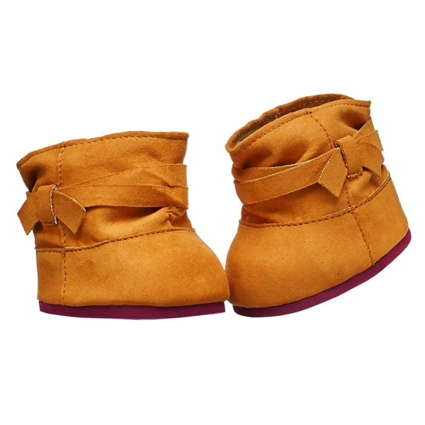 Brown Suede Strap Boots